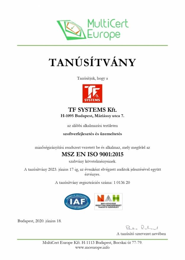TF SYSTEMS Kft._KA - Tanúsítvány magyar_MIR_page-0001